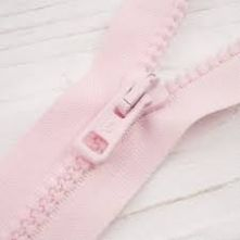 Heavy Duty Pale Pink Plastic Open Ended Zip